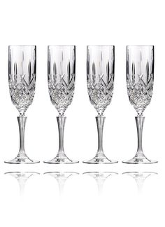 Waterford Crystal Markham Champagne Flute Set Of 4 Glware