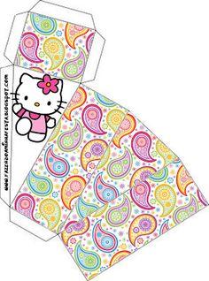 Cajitas imprimibles de Hello Kitty 2. 14 modelos diferentes.