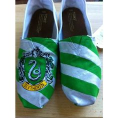 Hogwarts/Harry Potter House TOMS ($170) ❤ liked on Polyvore
