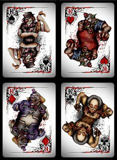 Bicycle Killer Clowns Playing Cards by Collectable Playing Cards — Kickstarter