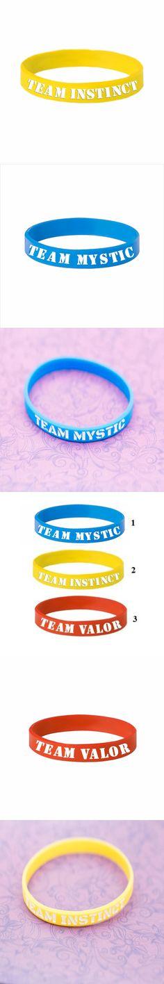 3 Colors Pokemon GO Bracelet For Children Team Valor Instinct Mystic Logo Silicone Wristband Sport Bracelets For Boy Girls Gifts