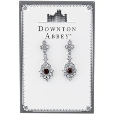 1928 Downton Abbey® Boxed Silver-Tone Purple Crystal Drop Earrings and other apparel, accessories and trends. Browse and shop related looks.