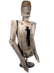 Very Early Life-Sized Primitive Articulated Doll thumbnail 4