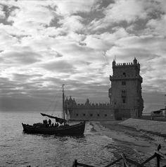 Torre de Belém, Lisboa, Portugal | Fotógrafo: Estúdio Horácio Novais. Fotografia sem data. Produzida durante a atividade do Estúdio Horácio Novais, 1930-1980.