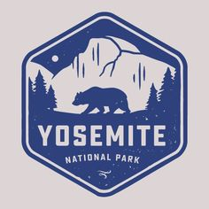 Yosemite National Park Badge Cotton T-Shirt - YeahYeahTees.com