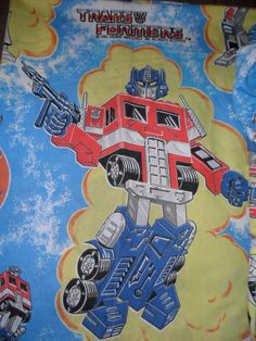 Vintage Transformers Twin Sheets 1984 Bed Sheet