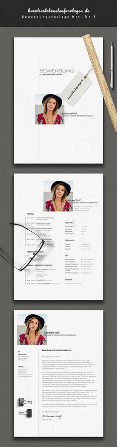"""Etwas schlichter aber dennoch hochwertig und besonders. Unsere Bewerbungsvorlage Katharina Wolf eignet sich durchweg für alle Bereiche. Hier wurde extra auf """"schlichte Kreativität"""" acht genommen. Die kostenlose Google Schriftart Roboto kommuniziert Eleganz und Seriösität. Das Bewerbungspaket enthält Deckblatt (Cover Sheet), Anschreiben (Resume) und Lebenslauf (CV) im Corporate Design. Einfach die beiligenden Schriftarten (Fonts) installieren, die Datei in Microsoft Word öffnen und…"""