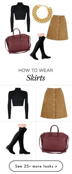"""""""Suede Skirt"""" by doronadiva on Polyvore featuring WearAll, Warehouse, A.V. Max, Givenchy, OverTheKneeBoots and suedeskirt"""