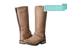 Steve Madden - Exclusive - Fllash  Price: $130  Gear up for fall with this classic boot by Steve Madden! Leather upper. Back zip closure. Buckle strap accent at the vamp. Round toe. Leather lining. Lightly padded leather insole. Flexible rubber traction outsole. Imported. Measurements: Heel Height: 1 1 4 in