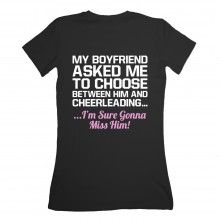 1d635a2437 Cheerleading #Awesome I'm glad my boyfriend wants me to keep cheering Cheer  Shirts