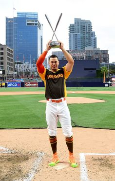 "sportingnewsarchive: ""Home run derby champion!Miami Marlins' Giancarlo Stanton…"