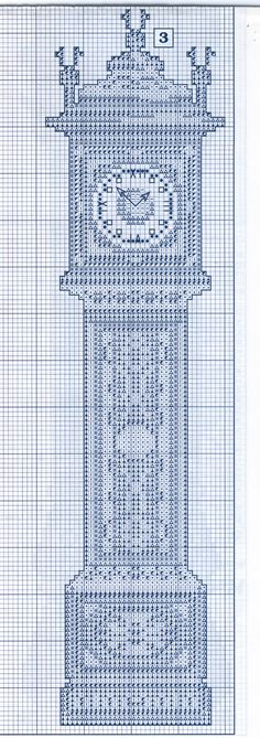 Schema punto croce Orologi Da Parete 1d
