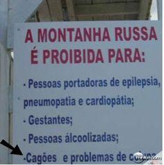 PLACAS ENGRAÇADAS E CURIOSAS.
