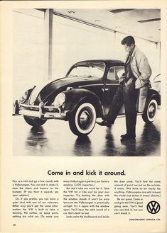 VW Beetle Ad #vintage #volkswagens
