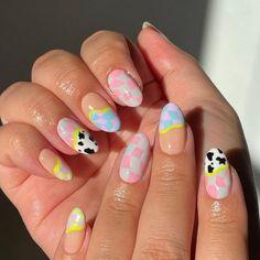 Colourful Acrylic Nails, Cute Acrylic Nails, Gel Nails, Manicure, Soft Nails, Simple Nails, Stylish Nails, Trendy Nails, Kawaii Nails