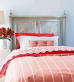 Blue & Coral bedroom