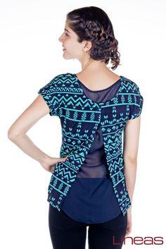 Blusa, modelo 18073. Precio $170 MXN Pantalón, modelo 17485. Precio $250 MXN #moda #Lineas #ropa #outfit #prendas #2014 #primavera #outfit #cool