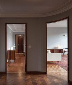 Atelier In Vitro creates retro interiors for three apartments in 1940s Porto building
