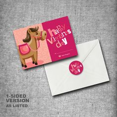 Personalized Kids Valentines Day Cards Set of por moncherdesigns