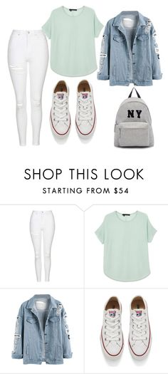 """Untitled #305"" by teszter0528 on Polyvore featuring Topshop, 360 Sweater, Converse and Joshua's"