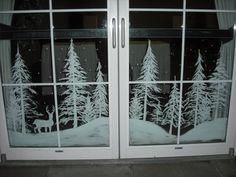 Snowy forest doors by Window-Painting.deviantart.com on @deviantART