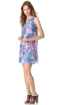 Rebecca Taylor Aurora Dress with Pleated Back $450