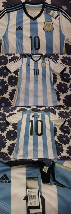 Soccer-National Teams 2891: Messi Argentina Home Jersey Shirt Size M 100% Genuine New !!! -> BUY IT NOW ONLY: $80 on eBay!