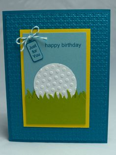 Stampin Up Handmade Greeting Card Happy Birthday Golf Golfing Golfer Club Doctor Man Mens Womens Ball Just For You Gift