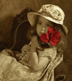 Girl with a red rose