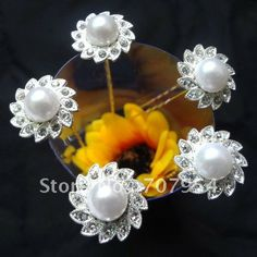 40pcs/lot Free Shipping Wedding Party Woman Rhinestone Pearl Hair Pins. Fashion Hair Jewelry. Bride Hair Grips $20.20