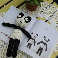 Nouveau doudou panda d'après le livre d'agathe rose en vente rue de la manutention à palais belle ile by colette.poupoune