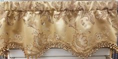 """Camelia Janey Valance 50""""w x 16""""l in Ginger . $ 49.99 To Order Call toll-free 877-722-1100"""