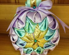 Pastel Ice Quilted Ornament
