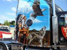 Native American Semi Truck - Beautiful!