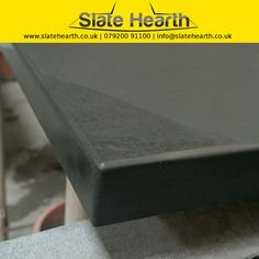 Rounded edge finish sample on this hearth corner.