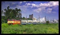 GZB WAP-1 #22043 WITH NDLS-UHL JANSHATABDI EXPRESS