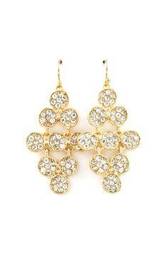 Circlet Chandelier Earrings in Gold.