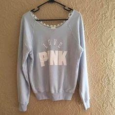 Rare VS baby blue sweater Victoria's Secret PINK baby blue crew neck sweater. Fits xs-m $45 on Ⓜ️ercari Victoria's Secret Sweaters Crew & Scoop Necks