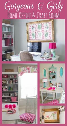 Gorgeous & Girly Home Office & Craft Room