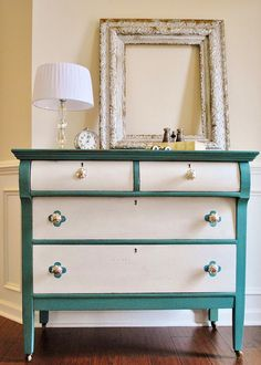 Turquoise painted furniture ideas Annie Sloan Idea Turquoise And White Dresser Diy White Handle White Flower Handle Pinterest 251 Best Turquoise Painted Furniture Images Painted Furniture