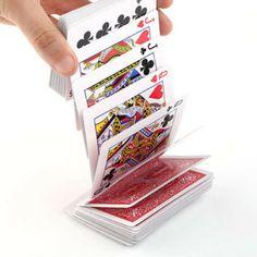 Black Professional Card Deck Matte close up Magic Tricks Pad für Poker FAB