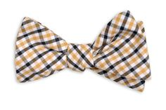 Black and Gold Tattersall Bow Tie #SAINTS #WHODAT