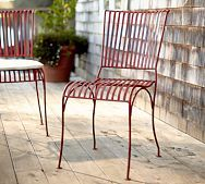 Pottery Barn Red Metal Chair