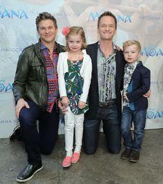 Neil Patrick Harris and David Burtka took their kids, Harper and Gideon, to the NYC screening of Disney's 'Moana' on November 20, 2016.