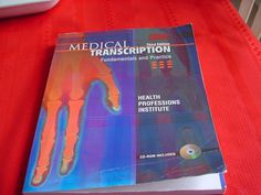 Medical Transcription : Fundamentals and Practice by Health Professions...3rd Ed #Textbook