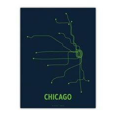 Chicago Screenprint Navy, $18, now featured on Fab.