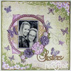 Heartfelt Creations | Purple Butterfly Medley Layout