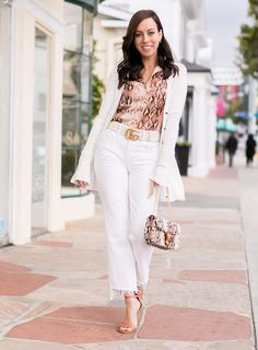 97dce2f929d Snakeskin For Weekend Outfits. Sydne Style shows how to wear the snakeskin  trend for spring ...