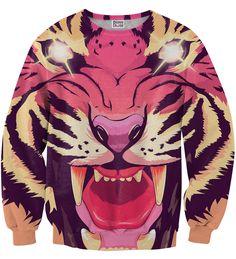 Comic tiger sweater, Mr. GUGU & Miss GO