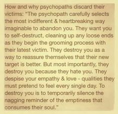 Discard by narc Narcissistic Behavior, Narcissistic Sociopath, Narcissistic Personality Disorder, Narcissistic People, Narcissistic Mother, Emotional Vampire, Emotional Abuse, Relationship With A Narcissist, Toxic Relationships